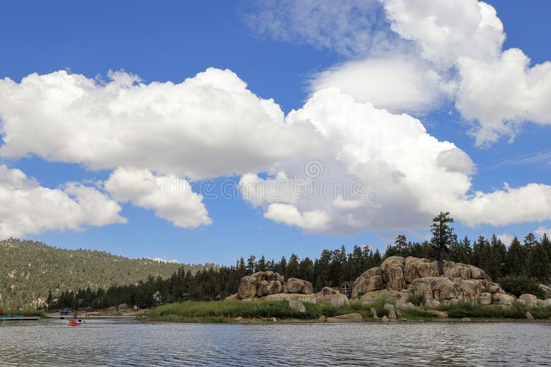 Big Bear lake. Fun afternoon at Boulder Bay park, Big Bear Lake California stock images