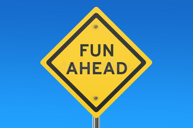 Fun Ahead road sign royalty free illustration