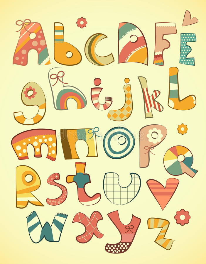Download Fun alphabet stock vector. Image of doodle, color, design - 26617697