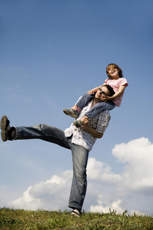 Free Fun And Love Of Father And Child Stock Photo - 9445110