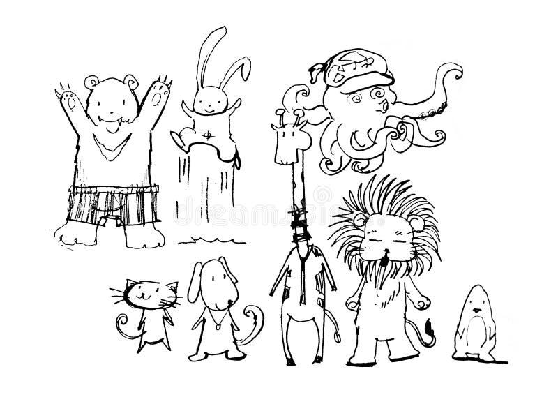 Download Fun Animals Cartoon Stock Photo Image Of Human Drawn