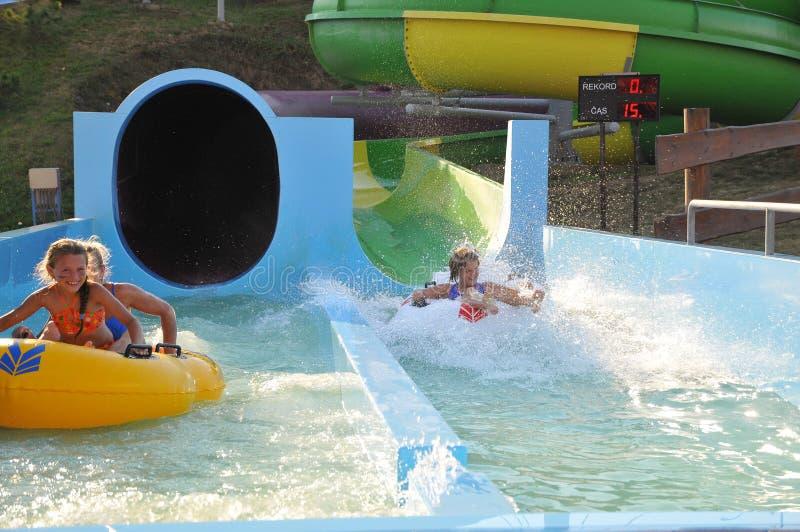 Fun in Aqua park royalty free stock images