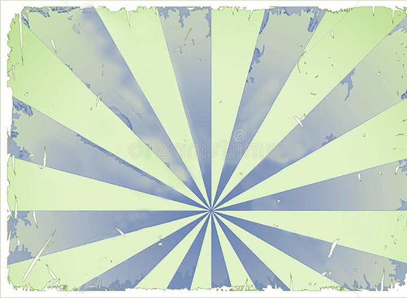 Fun Background Texture Zazzy. A fun grunge blue and green texture or background. Reminds me of looking in a circus tent at the sky stock illustration