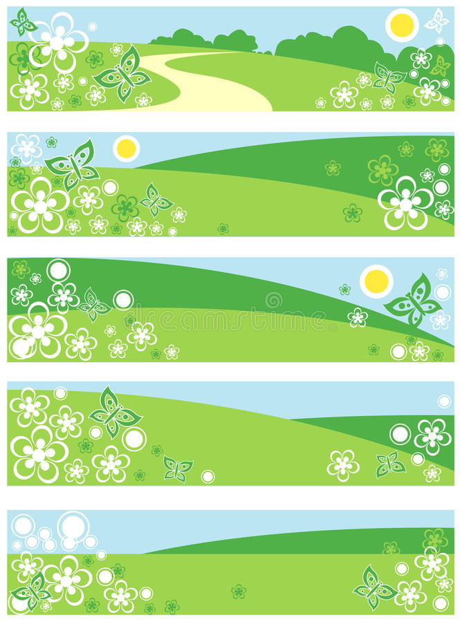 Download Fun banners stock vector. Image of bright, green, copyspace - 12868541