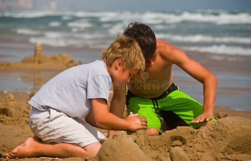 Fun on beach royalty free stock photo