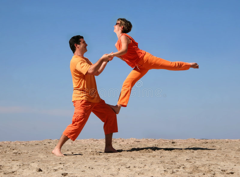 Download Fun on the beach stock image. Image of enjoying, boyfriend - 1613909