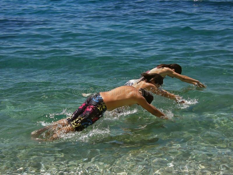 Fun at the beach royalty free stock photos