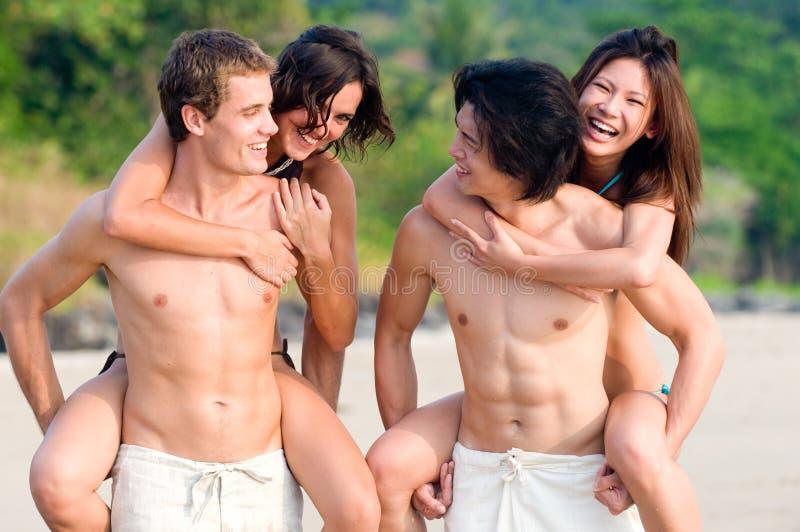 Download Fun On Beach stock photo. Image of friends, beachwear - 4474540