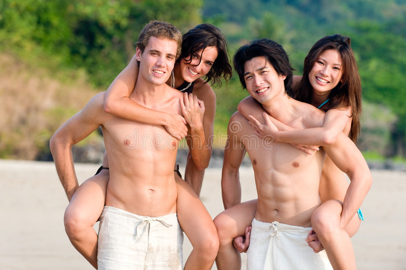 Download Fun On Beach stock photo. Image of sand, asian, happy - 4646394