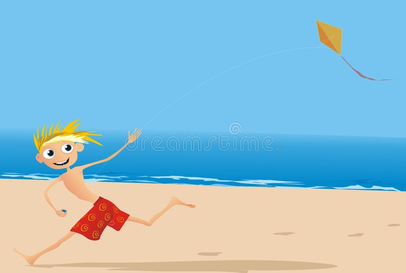 Download Fun at the beach stock vector. Image of colours, seaside - 6723125