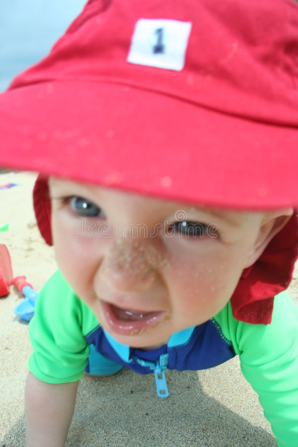 Download Fun on the beach stock photo. Image of natural, baby, color - 965744