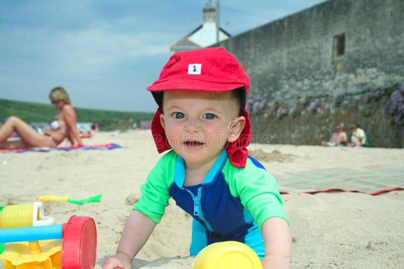Download Fun on the beach stock image. Image of children, family - 969387