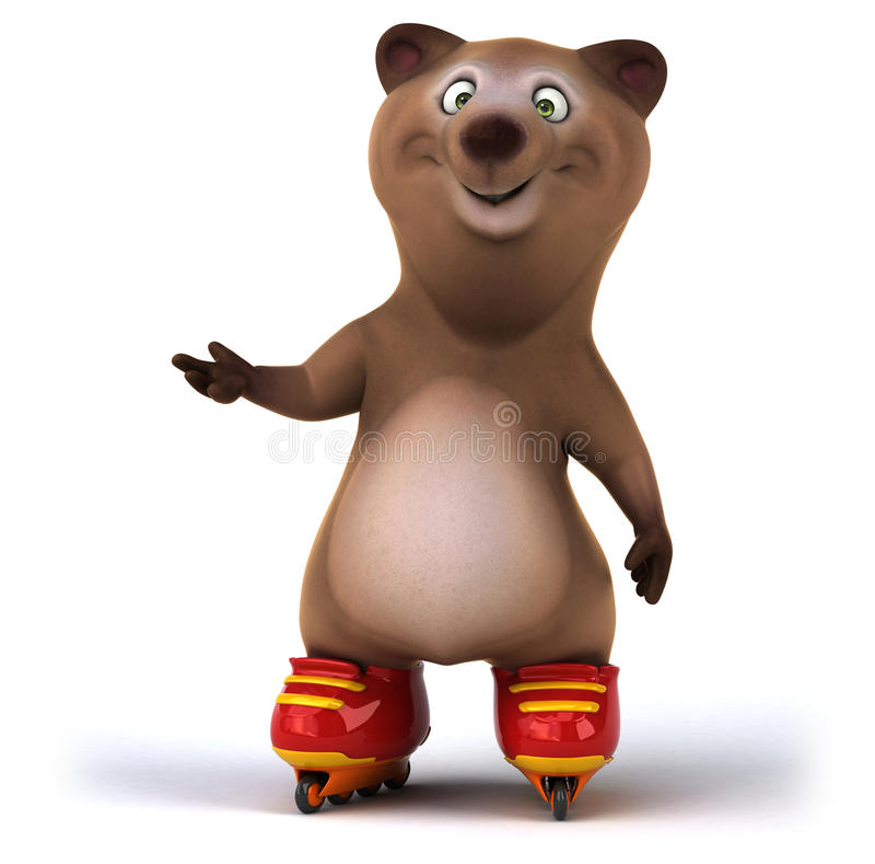 Fun bear royalty free illustration
