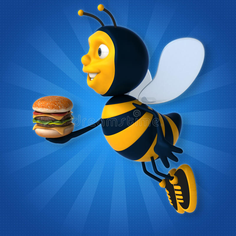 Fun bee vector illustration