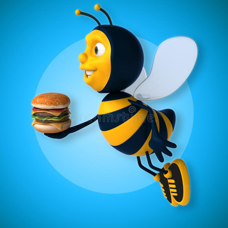 Fun bee stock illustration