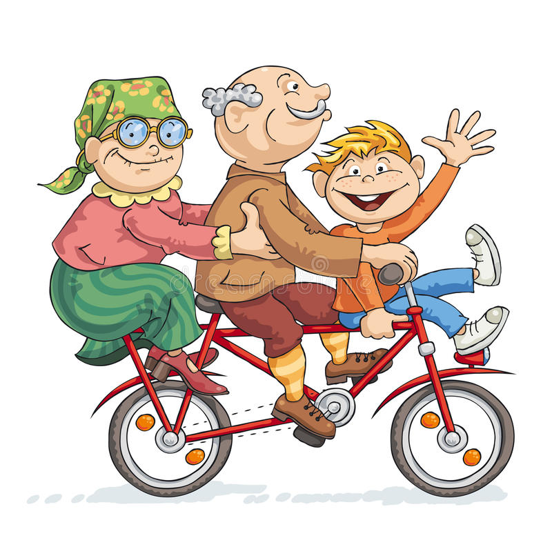 Fun Bike Ride royalty free illustration
