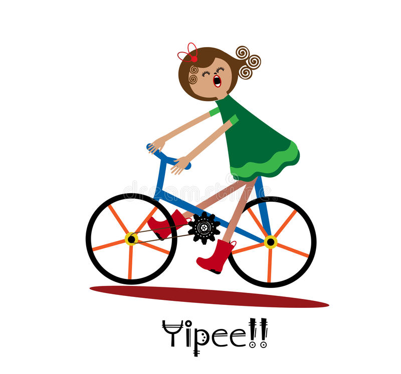 Fun bike ride stock illustration