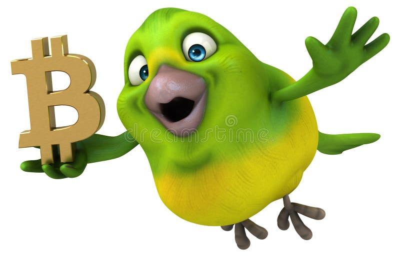 Fun bird - 3D Illustration royalty free illustration