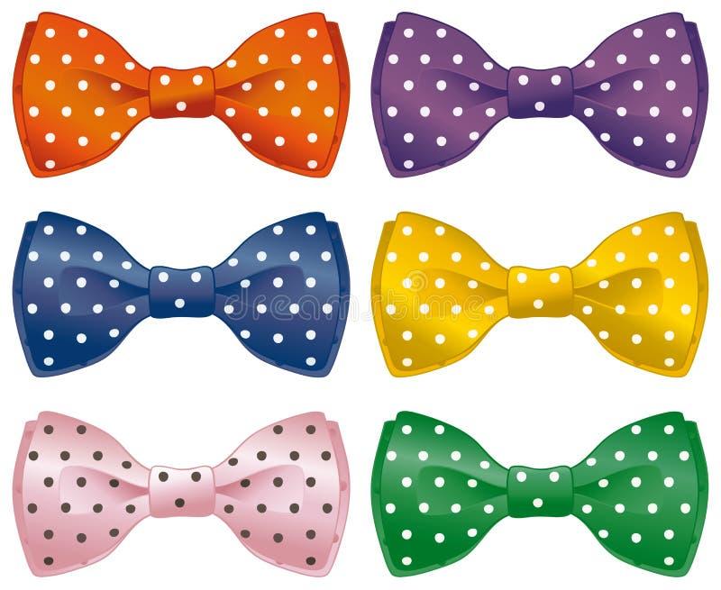 Fun bow ties royalty free illustration
