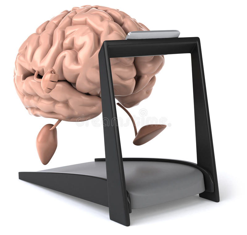 Fun brain royalty free illustration