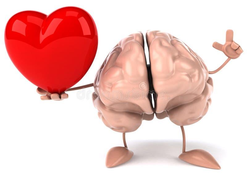 Fun brain vector illustration