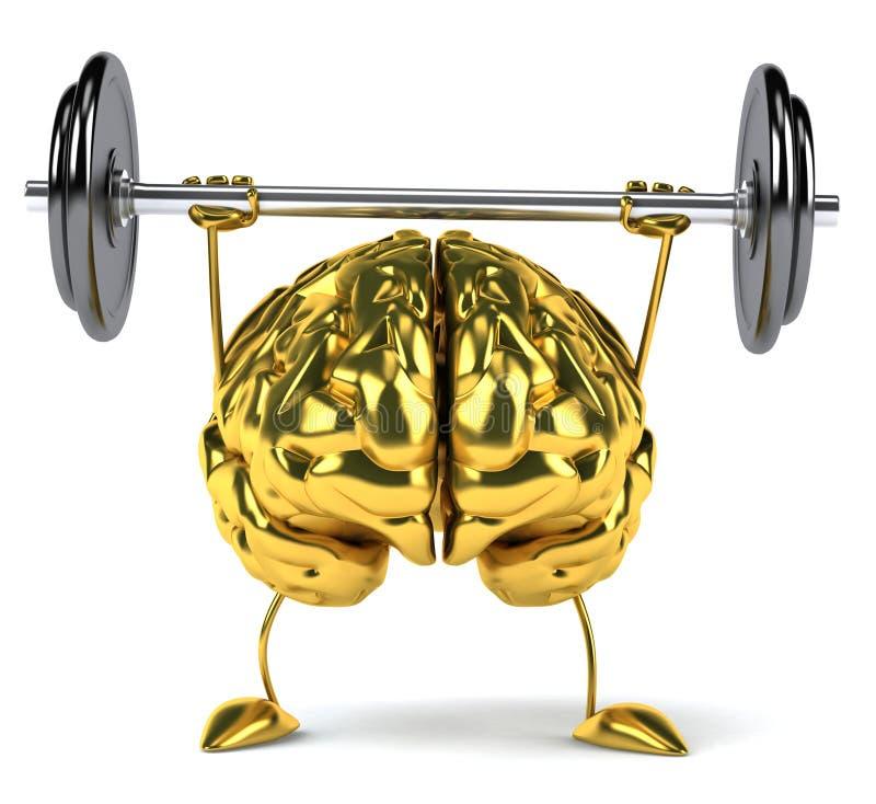 Fun brain stock illustration