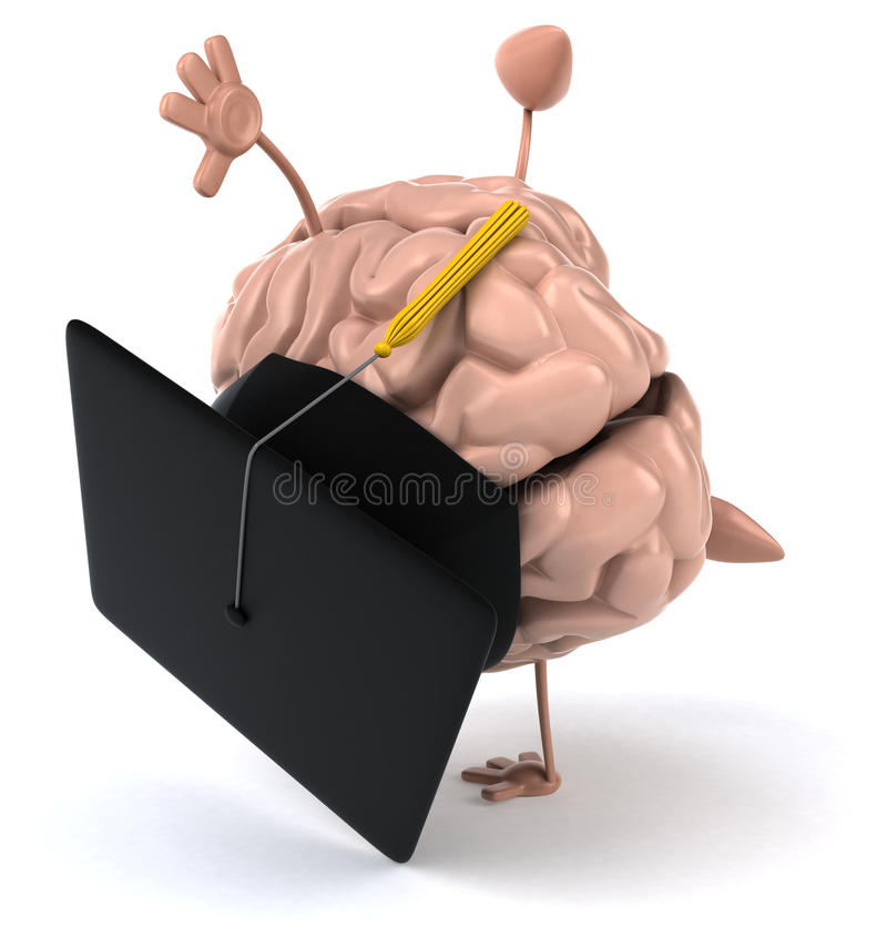 Fun brain royalty free illustration