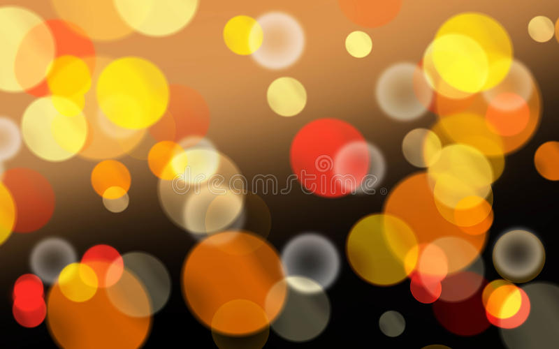 Fun and bright Bokeh background texture. Backdrop royalty free illustration