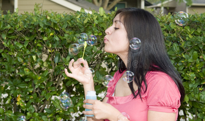 Download Fun with Bubbles stock photo. Image of elastic, attractive - 4696532