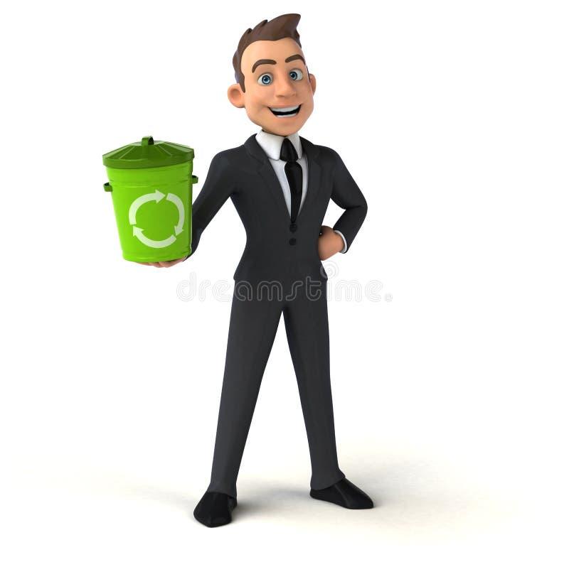 Fun businessman vector illustration