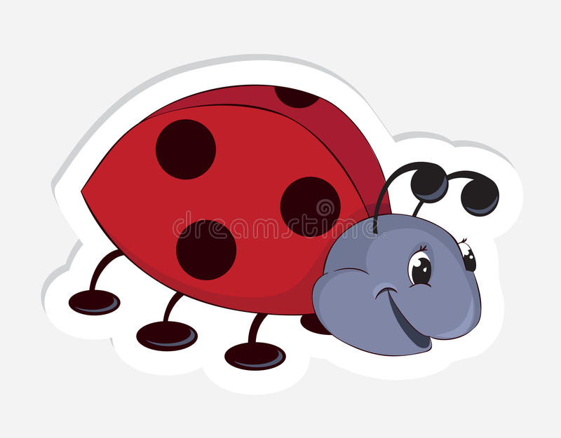 Fun cartoon ladybug vector illustration
