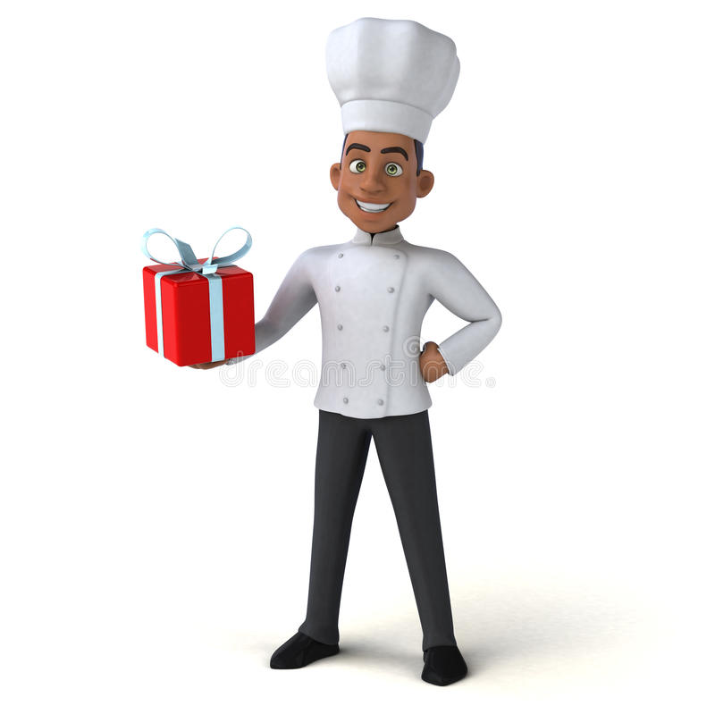 Fun chef stock illustration