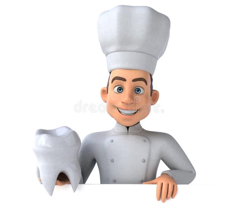 Fun chef vector illustration