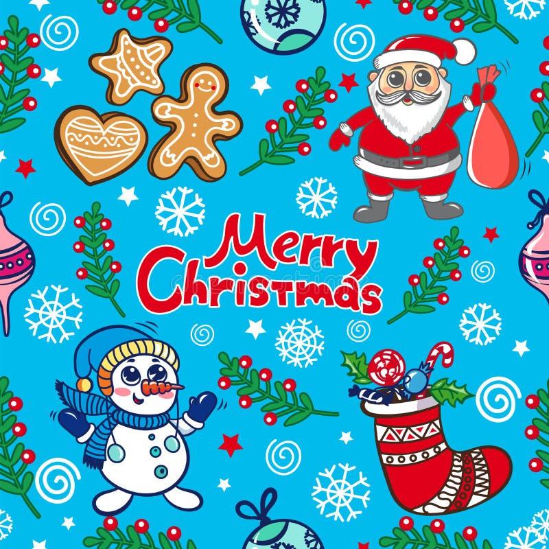 Fun Christmas Pattern vector illustration