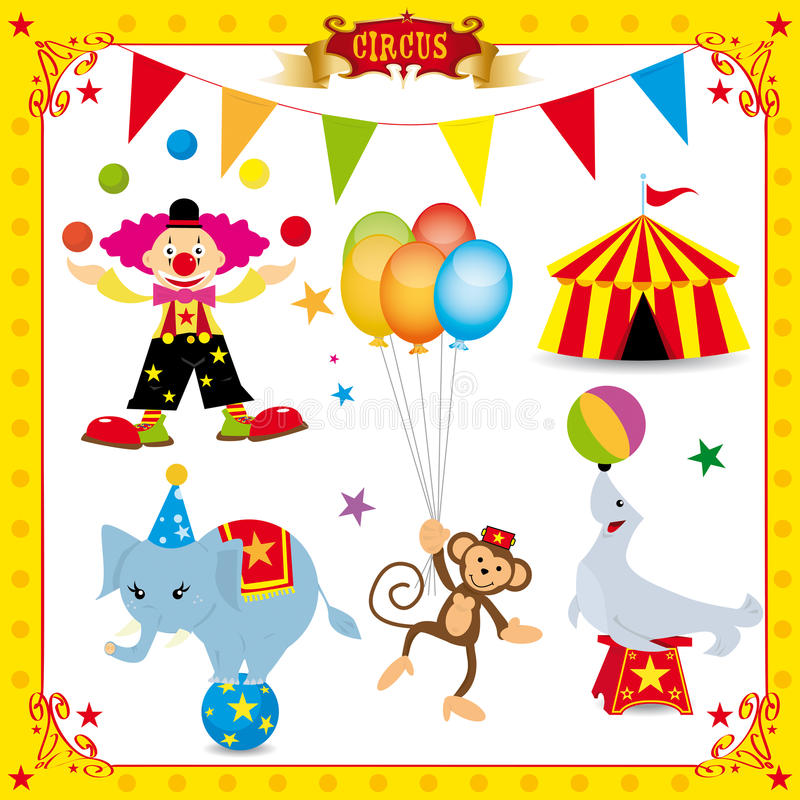 Free Fun Circus Set Stock Images - 18396214