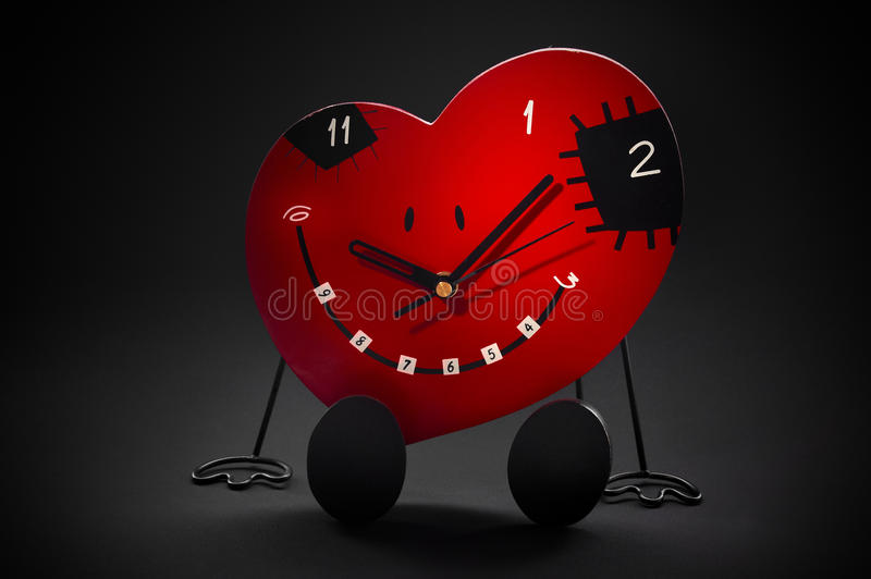 Download Fun clock stock photo. Image of valentines, heart, background - 15891978