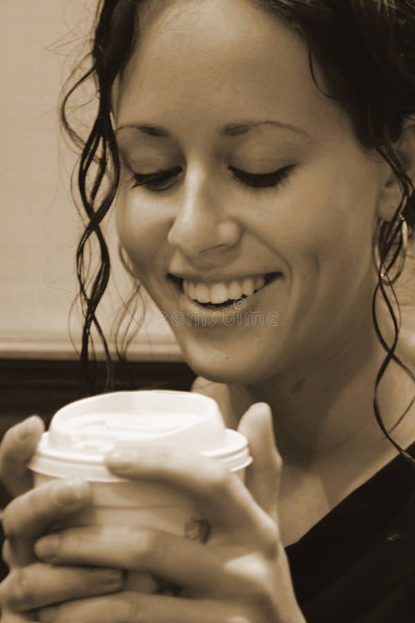 Download Fun with Coffee or Tea stock photo. Image of smile, starbucks - 1085464
