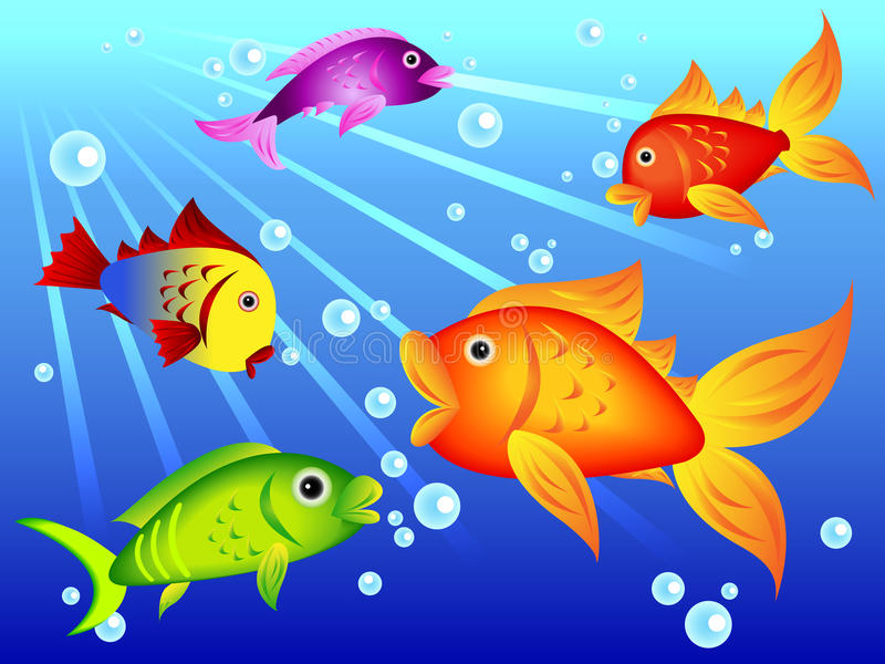Download Fun colorful fish stock vector. Image of fish, auratus - 21457214