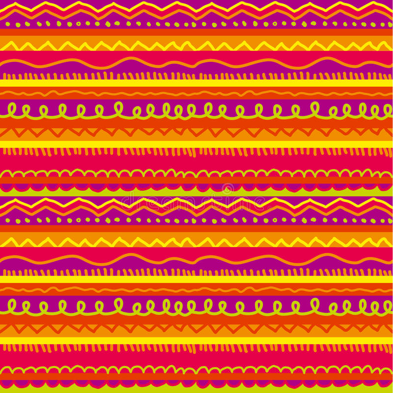 Fun and cute childish stripe seamless pattern vector illustration