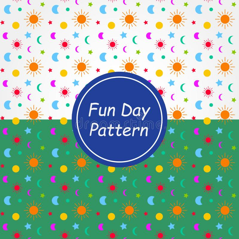 Fun Day Pattern Background and texture.  stock illustration