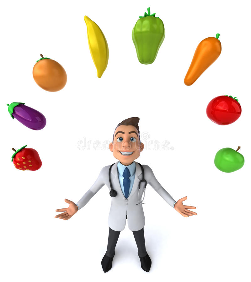 Fun doctor stock illustration