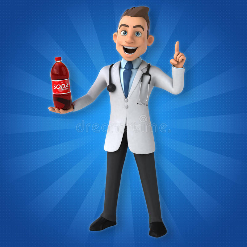 Fun doctor vector illustration