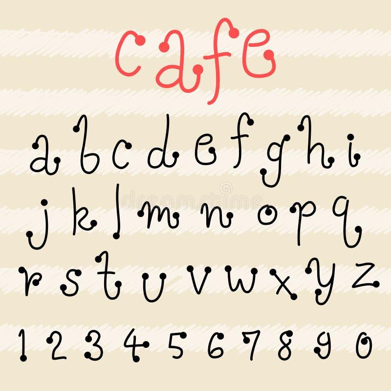 Download Fun Doodle Font Collectionhand Drawn Alphabet Set Stock Vector
