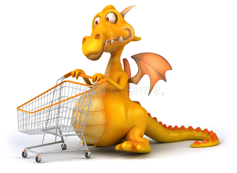 Download Fun dragon stock illustration. Illustration of artwork - 31139770