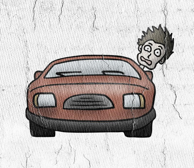 Fun drive car. Creative design of Fun drive car royalty free illustration