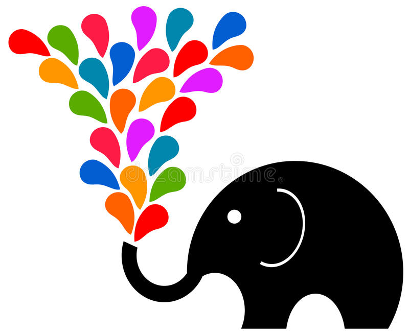 Fun elephant stock illustration