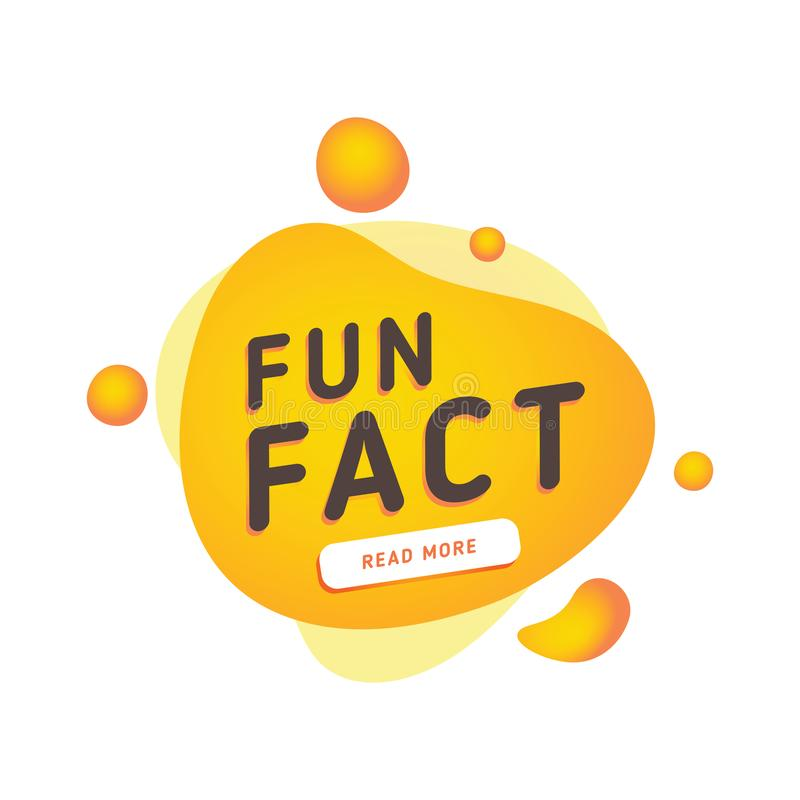 Fun fact typography bubble. Did you know knowledge design text message phrase information. Announcement speech stamp royalty free illustration