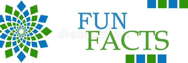 Fun Facts Green Blue Circular Horizontal. Fun facts text written over green blue background stock illustration