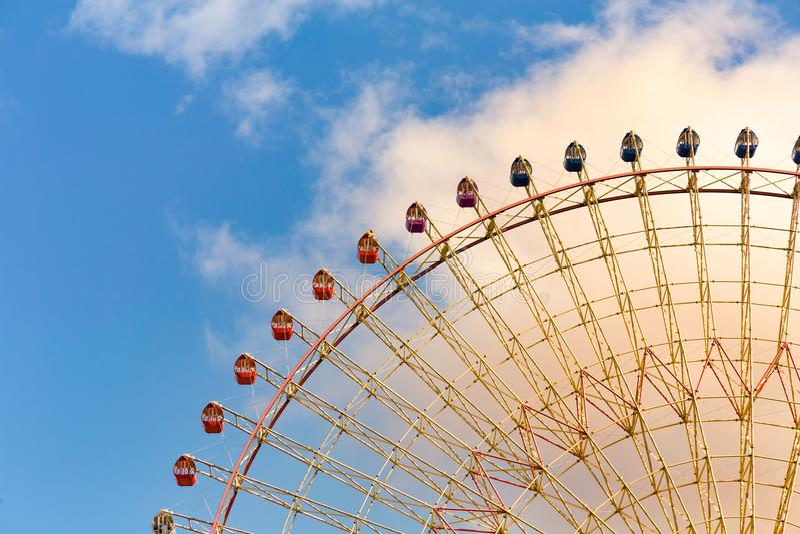Fun fair amusement giant wheel royalty free stock photos