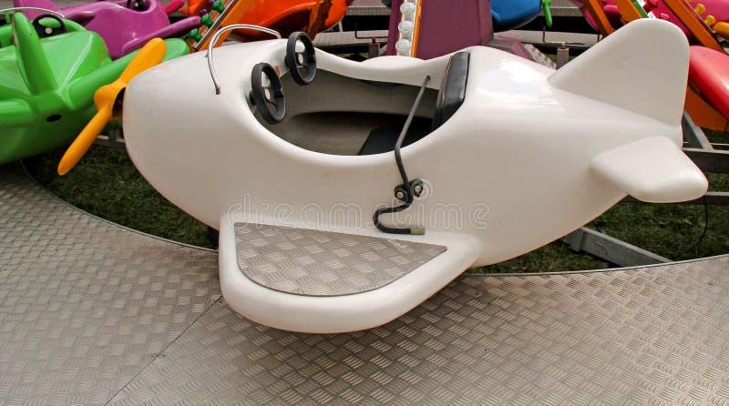 Fun Fair Amusement Ride. A Childrens Aeroplane Fun Fair Amusement Ride stock photography